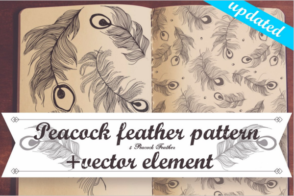 Seamless Peacock feather