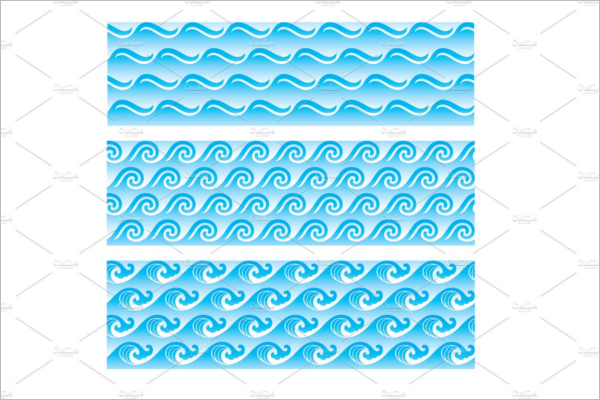 Seamless Sea Wave Pattern