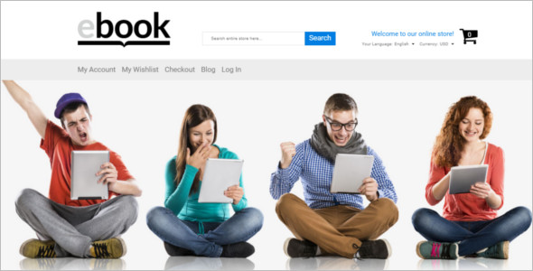 Selling E-books Magento Template