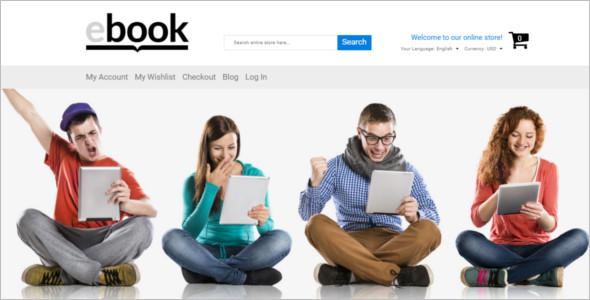 Selling E-books Magento Template