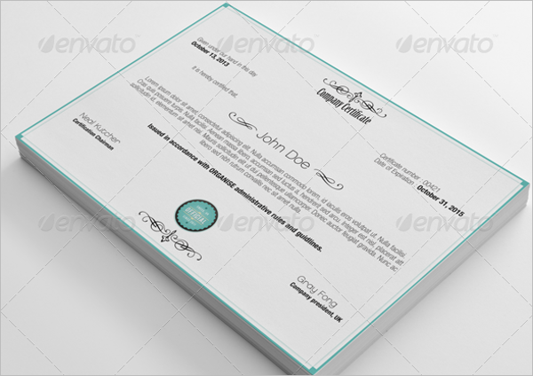 Seminar Participation Certificate
