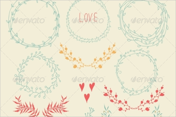 Set Floral element Design