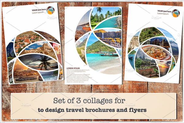 Set Of 3 Traval And Flyer Designs