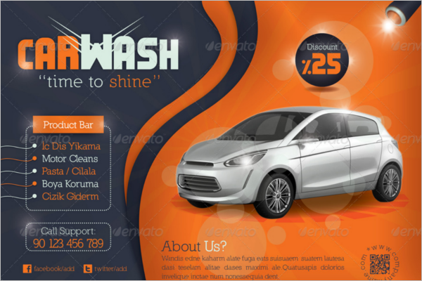 Shiny Car Wash Flyer Template