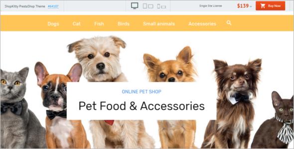 ShopKitty Pets PrestaShop Theme