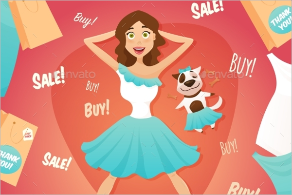 Shopping Advertisement Poster Template