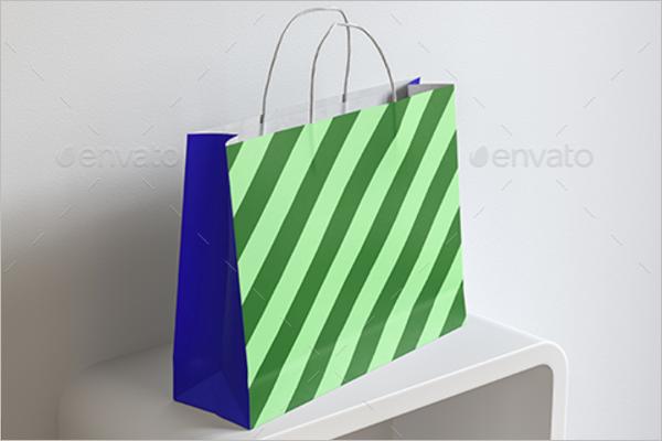 Shopping Handle Bag Template