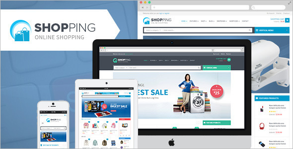 Shopping WooCommerce Responsive Template
