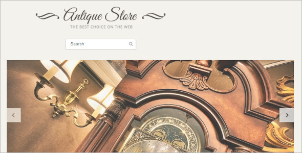 Simple Antique OpenCart Template