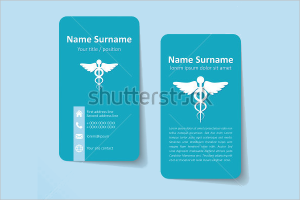Simple Business Card Vector Template.