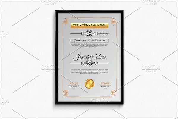 Simple Business Certificate Template