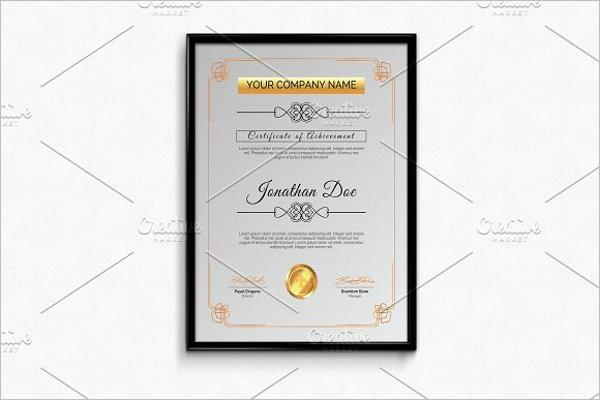 Simple Business Certificate Template