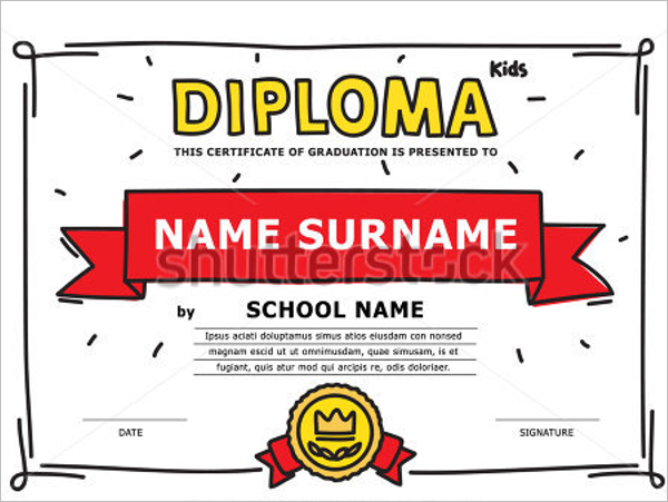 Simple Certificate For Kids