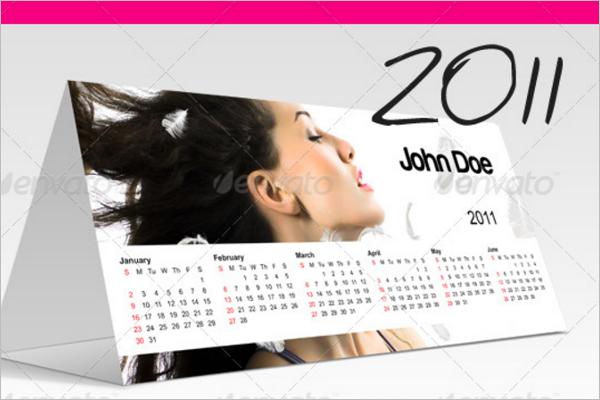 Simple Desk Calendar Template