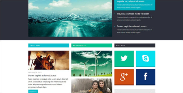 Simple Joomla News Editorial Theme