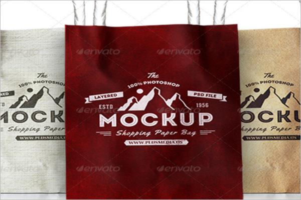 Simple Shopping Mockup Bag Design