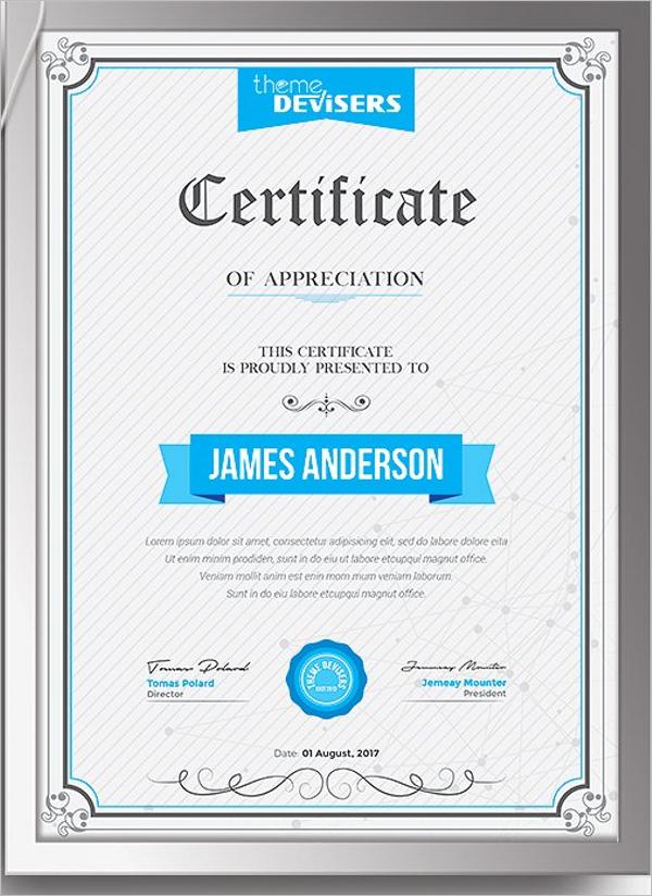 Simple Training Certificate Templates