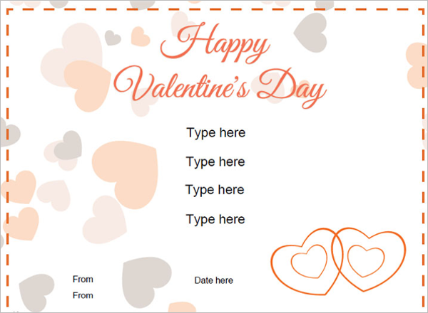 Simple Valentine's Day Certificate Template