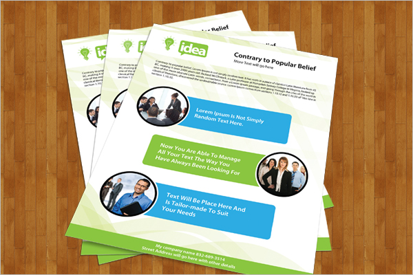 Single Side Brochure PSD Template
