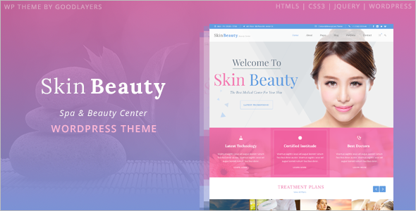 Skin Beauty Care Woocommerce Template