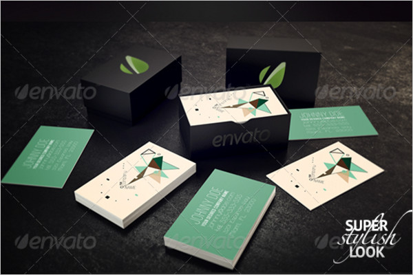 Small Business Card Design with Box
