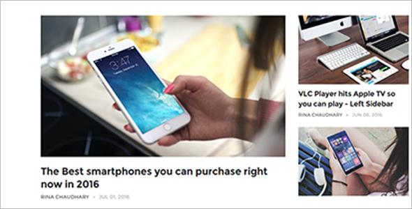 Smartphone Blog Template