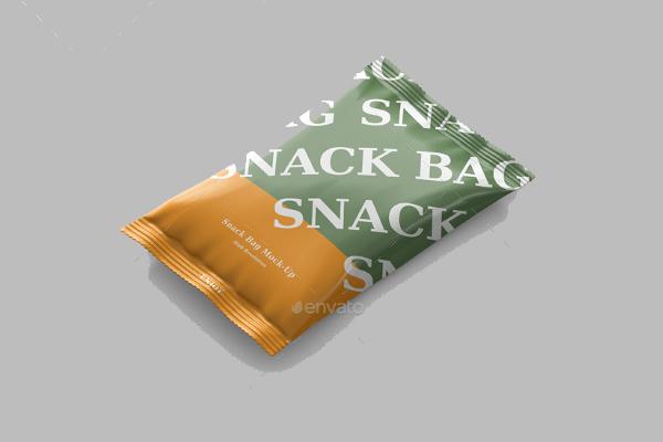 Snack Foil Bag Mockup PSD