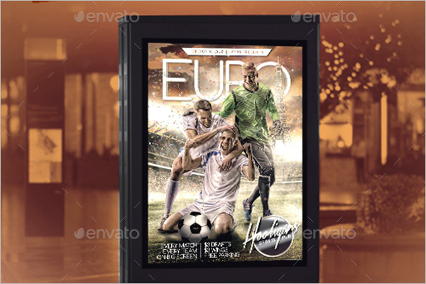 Soccer Advertising Flyer Template