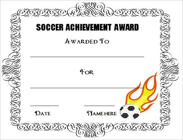 Soccer awards template for Soccer award certificate templates free