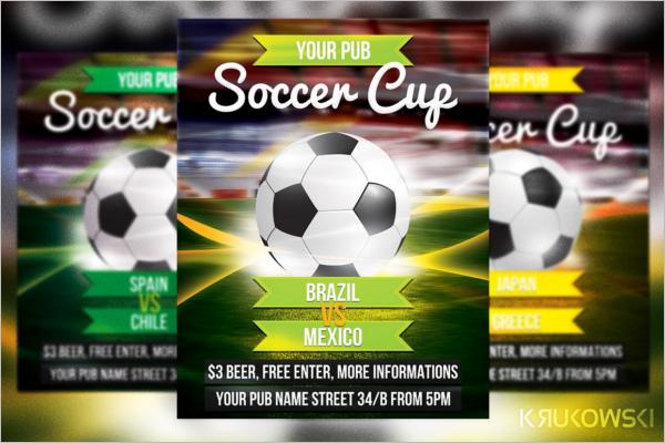 Soccer Background Flyer Design