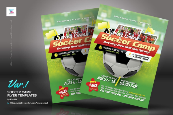 Soccer Camp Flyer Design