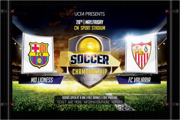 Soccer Championship Flyer Design