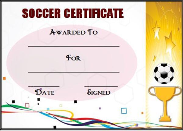 Soccer Champion Certificate Template