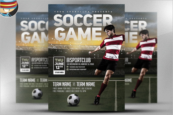 Soccer Game Flyer Template