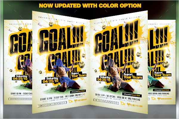 Soccer Goal Flyer Template