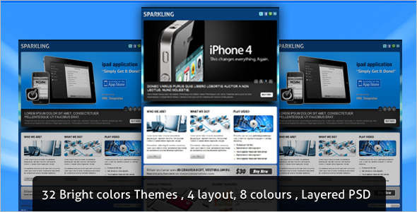 Sparkling jQuery Landing Page Effect