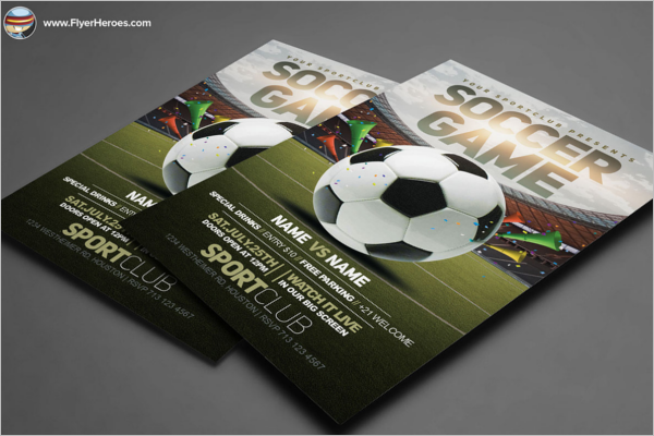 Sports Club Flyer Template