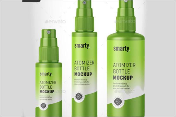 Spray Bottles Mockup