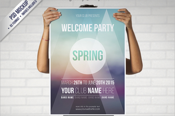 Spring Disco Party Flyer Template
