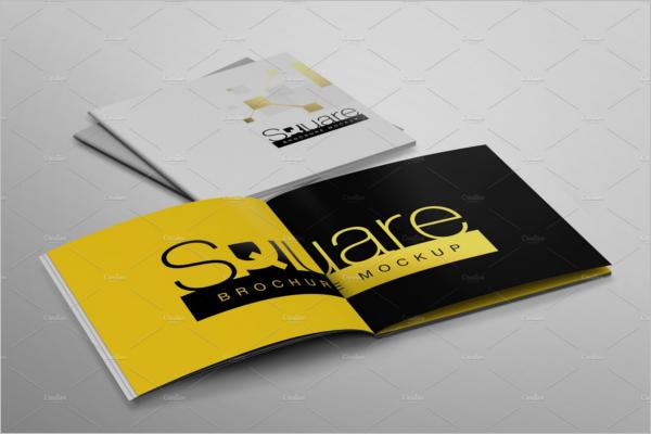 Square Paper Brochure Mockup Design