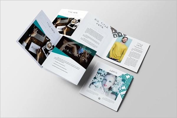 Square Tri-Fold Brochure Mock Up Design