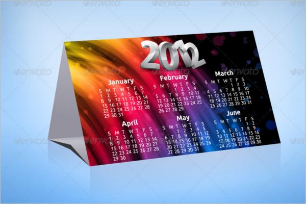 Standalone Desk Calendar Design