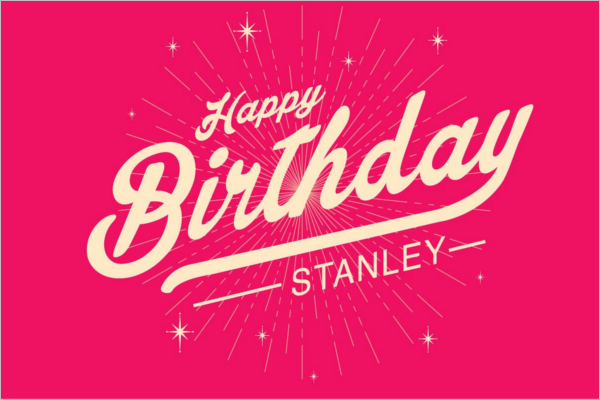 Starburst Birthday Poster Template