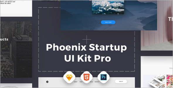 Startup PSD Sketch Template