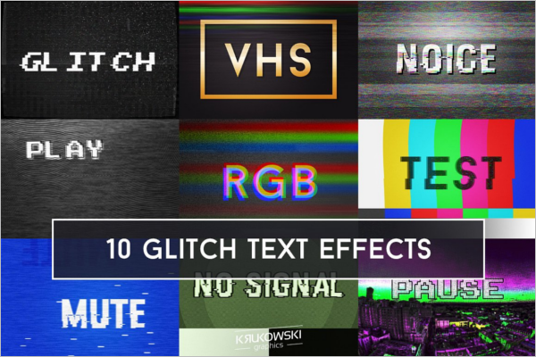 Static Text Effects Background