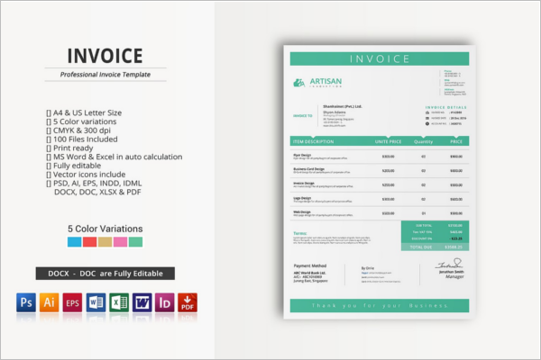 Stationery Invoice Proposal Template