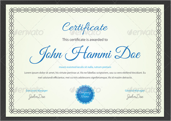 Student Participation Certificate Template