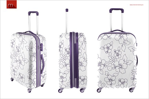 Suitcase Mock-up Design