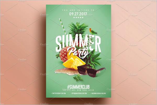 Summer Ad PSD Design