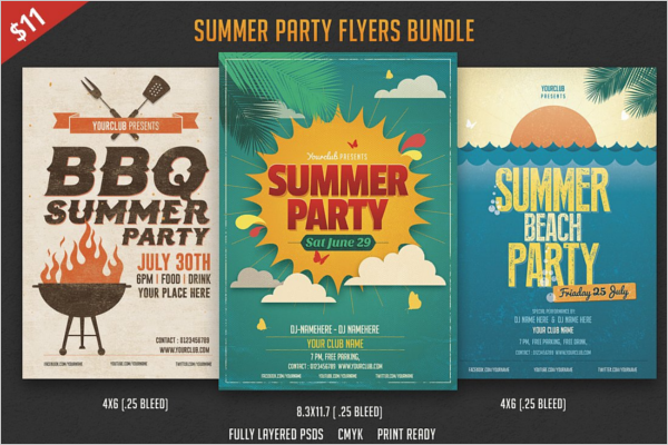 Summer Beach Party Flyer Bundle